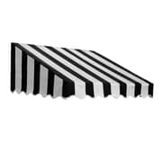 "Awntech® 3' San Francisco® Window/Entry Awning, 24"" x 48"", Black/White"