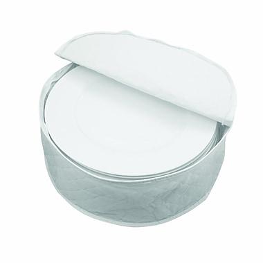 Marathon Management – Étui de rangement pour vaisselles en porcelaine, blanc, 12 po