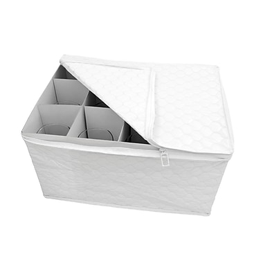 Marathon Management China Storage Quilted Dish Case for Stemware
