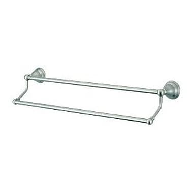 Elements of Design Royale Atlanta Double 24'' Wall Mounted Towel Bar; Satin Nickel