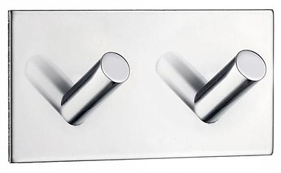 Smedbo Beslagsboden Square Design Double Wall Mounted Hook; Polished Stainless Steel