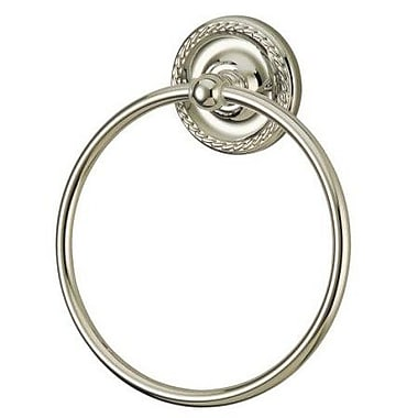 Elements of Design Laurel Wall Mounted Towel Ring; Satin Nickel