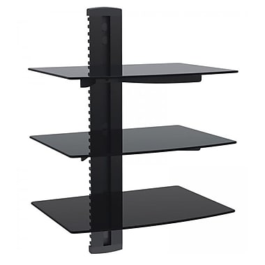 Best Stands 3-Deck Wall Mount Receiver Shelfing Unit