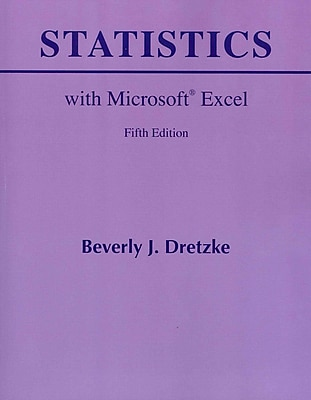 Statistics with Microsoft Excel (5th Edition)