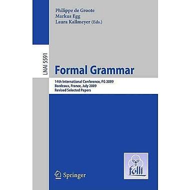 Formal Grammar: 14th International Conference