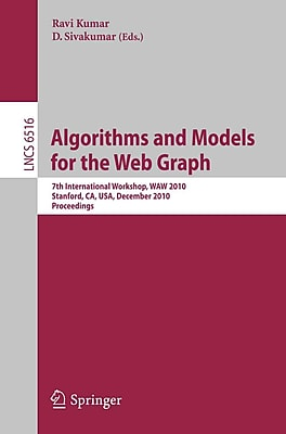 Algorithms and Models for the Web-Graph