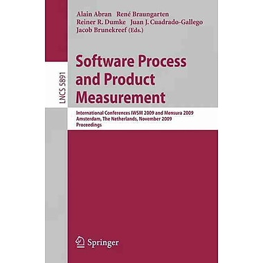 Software Process and Product Measurement Paperback