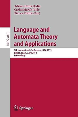 Language and Automata Theory and Applications: 7th International Conference