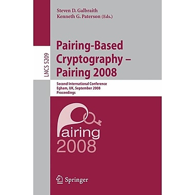 Pairing-Based Cryptography - Pairing 2008