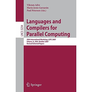 Languages and Compilers for Parallel Computing (Paperback)