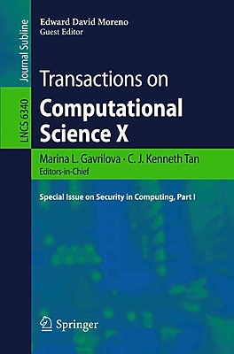 Transactions on Computational Science X