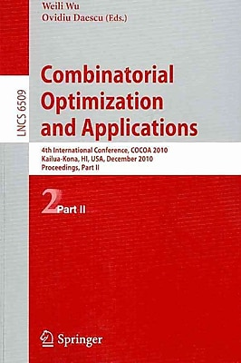 Combinatorial Optimization and Applications (4th International Conference)
