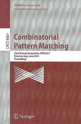 Combinatorial Pattern Matching(Paperback)