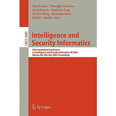 Intelligence and Security Informatics Paperback