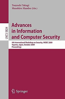 Advances in Information & Computer Security
