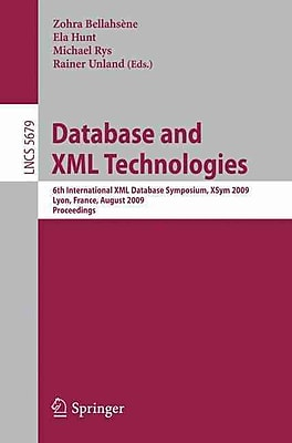 Database and XML Technologies (Paperback)
