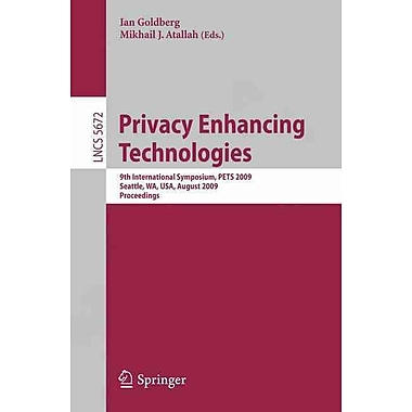 Privacy Enhancing Technologies (Paperback)
