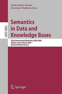 Semantics in Data and Knowledge Bases: Third International Workshop