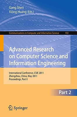 Advanced Research on Computer Science and Information Engineering: International Conference
