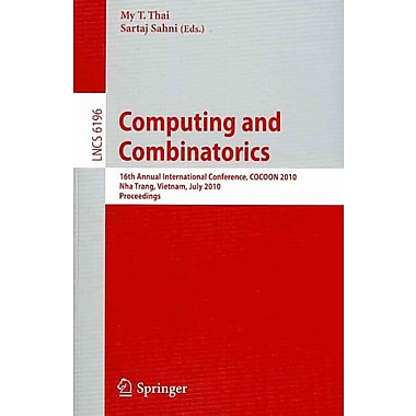 Computing and Combinatorics: 16th Annual International Conference
