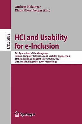HCI and Usability for e-Inclusion