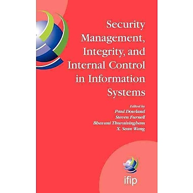 Security Management, Integrity, and Internal Control in Information Systems