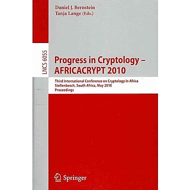 Progress in Cryptology - AFRICACRYPT 2010