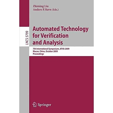 Automated Technology for Verification and Analysis (Paperback)