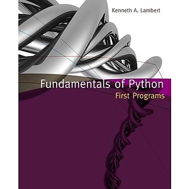 Fundamentals of Python: First Programs