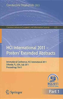 HCI International 2011 Posters' Extended Abstracts (Paperback)