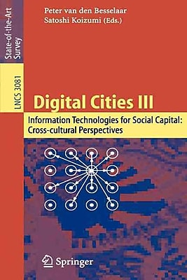 Digital Cities III. Information Technologies for Social Capital
