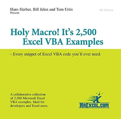 Holy Macro! It's 2, 500 Excel VBA Examples