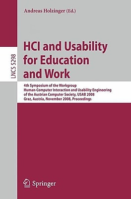 HCI and Usability for Education and Work (Paperback)