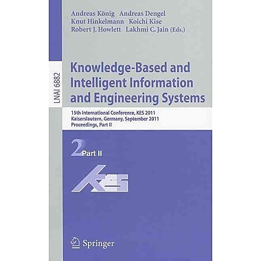 Knowledge-Based and Intelligent Information and Engineering Systems Part II