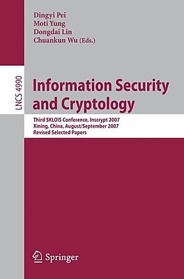 Information Security and Cryptology Third SKLOIS Conference