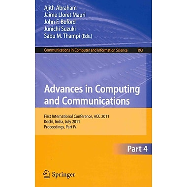 Advances in Computing and Communications, Part IV