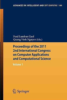 Proceedings of the 2011 2nd International Congress on Computer Applications