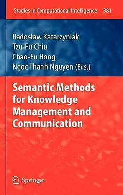 Semantic Methods for Knowledge Management and Communication (Studies in Computational Intelligence)