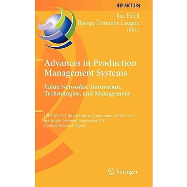 Advances in Production Management Systems. Value Networks