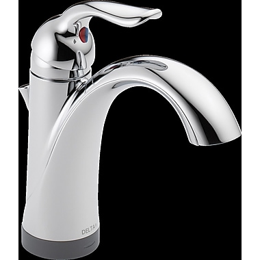 Delta Lahara Single hole Single Handle Bathroom Faucet w/ Drain Assembly and Diamond Seal Technology