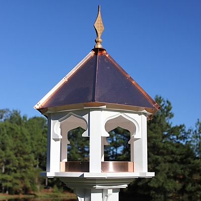 Heartwood Carousel Caf Decorative Tray Bird Feeder; Verdigris Copper Roof (WYF078276288041) photo