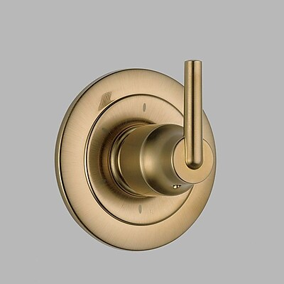 Delta Trinsic Bathroom Diverter Faucet Trim w/ Lever Handles; Brilliance Champagne Bronze