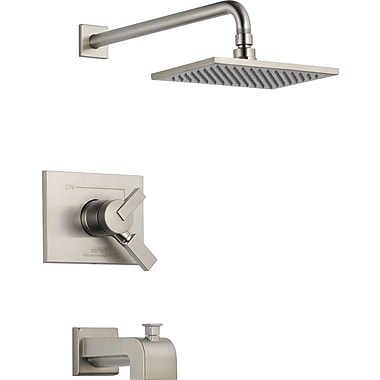 Delta Vero Volume Control Tub and Shower Faucet Trim w/ Lever Handles; Brilliance Stainless