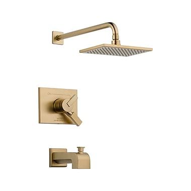 Delta Vero Volume Control Tub and Shower Faucet Trim w/ Lever Handles; Brilliance Champagne Bronze