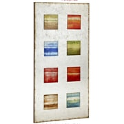 Majestic Mirror Colorful Rectangular Glass Painted Contemporary Wall Art