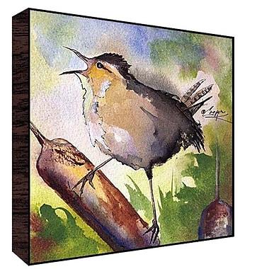 Green Leaf Art Cat-n-nine-tain Bird Painting Print; 12'' H x 12'' W x 1.5'' D