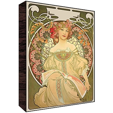 Green Leaf Art Muse II Poster Graphic Art; 28'' H x 22'' W x 1.5'' D