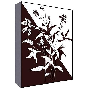 Green Leaf Art Black and White I Graphic Art; 14'' H x 11'' W x 1.5'' D
