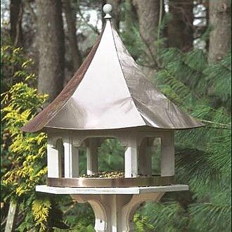 Good Directions Carousel Decorative Tray Bird Feeder; Polished Copper (WYF078276410806) photo