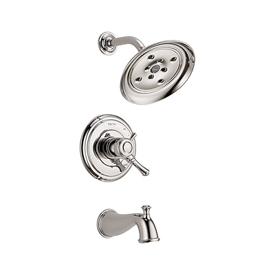 Delta Cassidy Volume Control Tub and Shower Faucet Trim w/ Lever Handles; Brilliance Polished Nickel